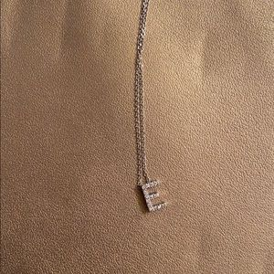 "Diamond ""E"" necklace"